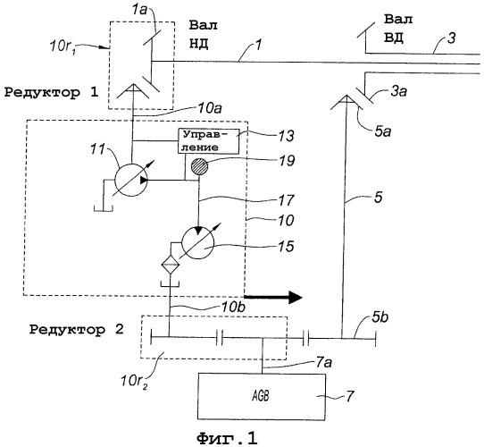 Устройство привода вспомогательных механизмов газотурбинного двигателя