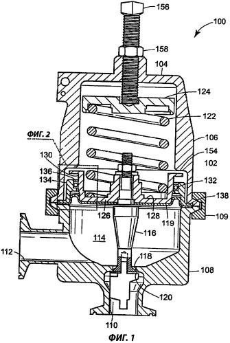 Гаситель вибраций для устройства регулирования текучей среды