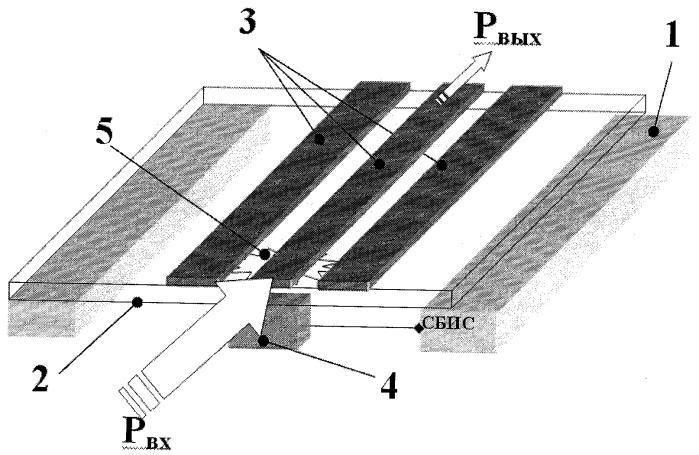 Интегральный аттенюатор свч-сигнала