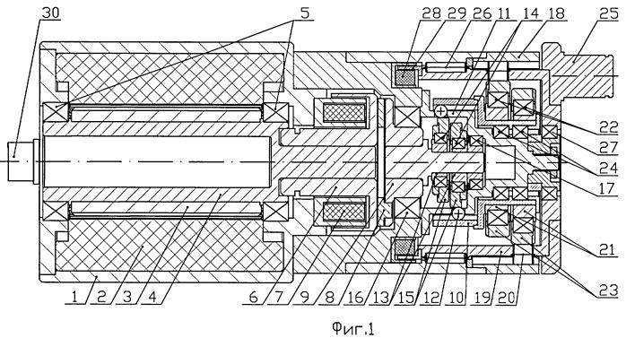 Силовой мини-привод подвижной аэродинамической поверхности летательного аппарата