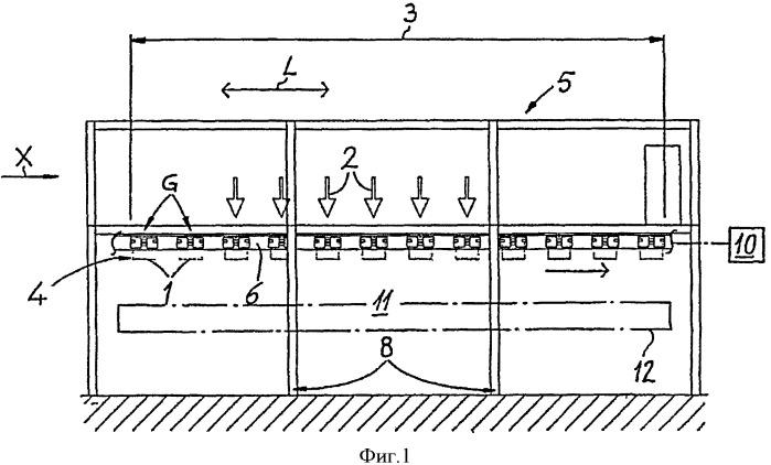 Устройство для обработки эластичных рукавных элементов, в частности пакетов