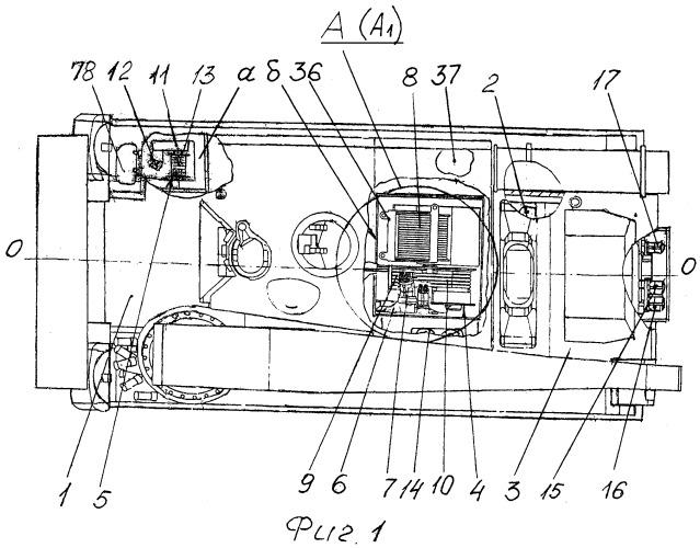 Тяговое оборудование бронированной ремонтно-эвакуационной машины и гидравлическая система привода лебедки тягового оборудования