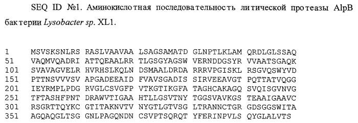 Литическая протеаза alpb бактерии lysobacter sp. xli, фрагмент днк, кодирующий литическую протеазу alpb бактерии lysobacter sp. xli, и способ получения литической протеазы alpb бактерии lysobacter sp. xli