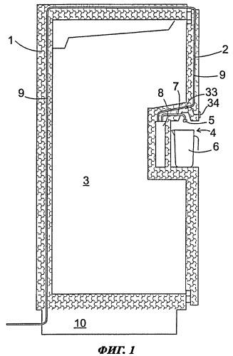 Холодильный аппарат с резервуаром для воды