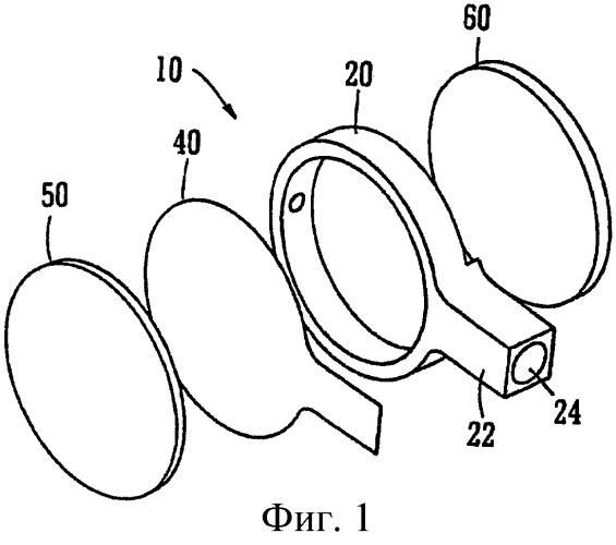 Линза и очки с переменным фокусным расстоянием
