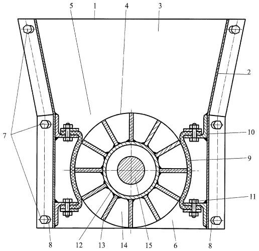 Шлюзовой затвор пневмосепарирующего устройства