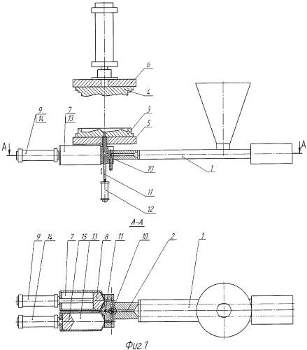 Машина для формования изделий из полимерных материалов по экструзионно-прессовой технологии