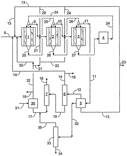 Непрерывный способ селективного превращения оксигената в пропилен с использованием технологии подвижного слоя и гидротермически стабилизированной бифункциональной катализаторной системы