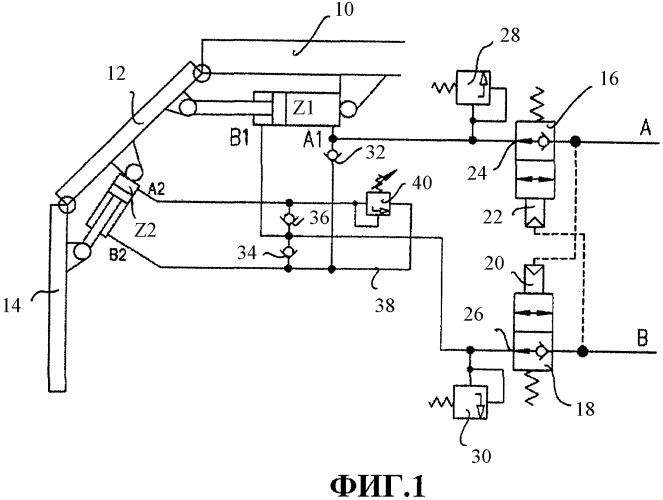 Система клапанов и секция механической крепи, снабженная указанной системой клапанов