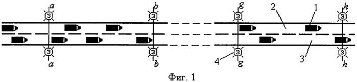 Способ регулирования движения по полосам проезжей части