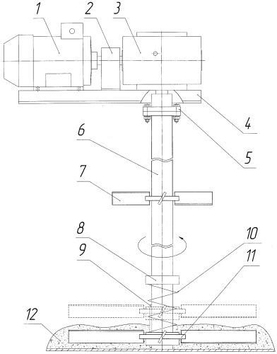 Перемешиватель лопастной механический