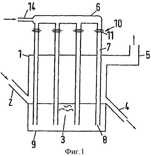 Способ и аппарат для псевдоожижения псевдоожижаемого слоя