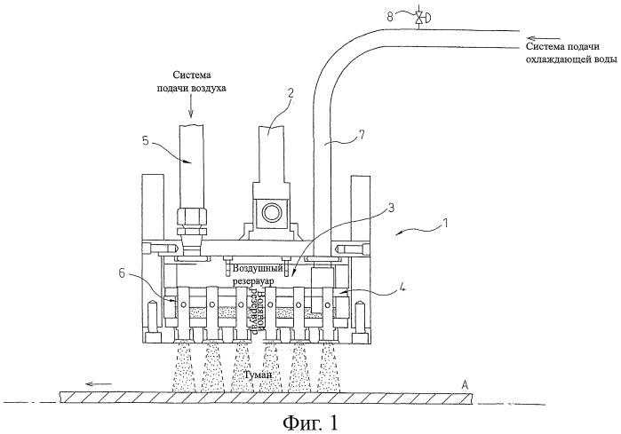 Устройство для контролируемого охлаждения и способ охлаждения стальной плиты