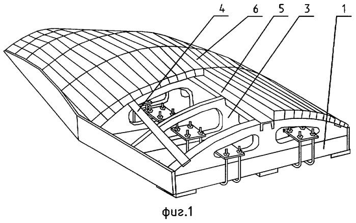 Обтяжной пуансон для формообразования длинномерных обшивок