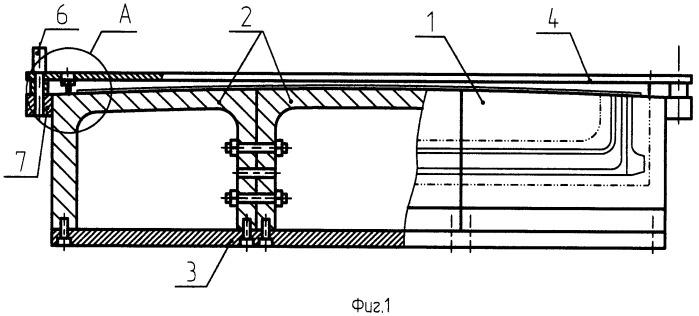 Устройство для формообразования, фрезеровки и контроля деталей типа окантовки пассажирских и грузовых дверей самолета