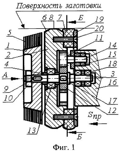 Способ ротационного выглаживания заготовок блоком роликов с планетарным движением