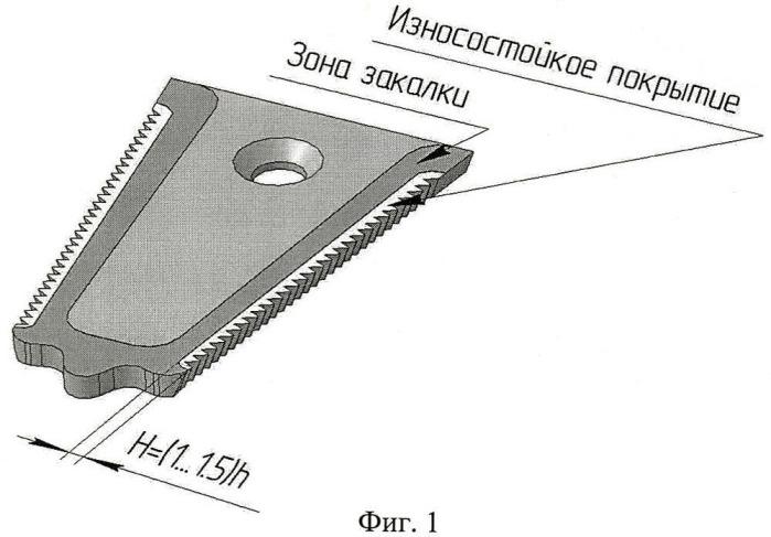 Способ упрочнения режущих кромок противорежущей пластины сельскохозяйственной машины