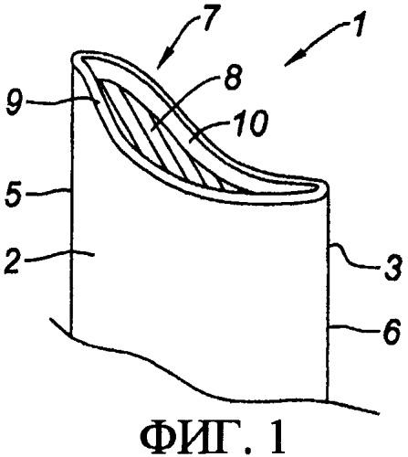 Способ изготовления полой лопатки, вершина которой имеет форму ванночки, а также способ ремонта такой лопатки