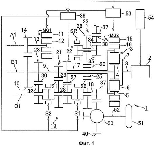 Гибридное приводное устройство и способ управления им