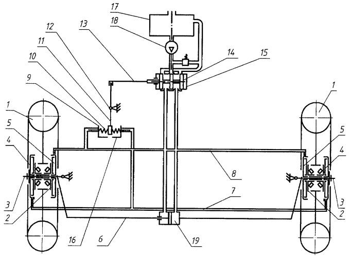 Устройство для непрерывного автоматического регулирования схождения управляемых колес автотранспортного средства в процессе движения