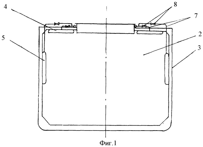 Устройство для предотвращения смещения грузов в трюме и сохранения плавучести судна