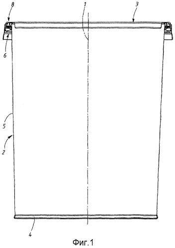 Контейнер в виде емкости и съемной крышки, имеющей манжету, а также способ для прикрепления этой крышки