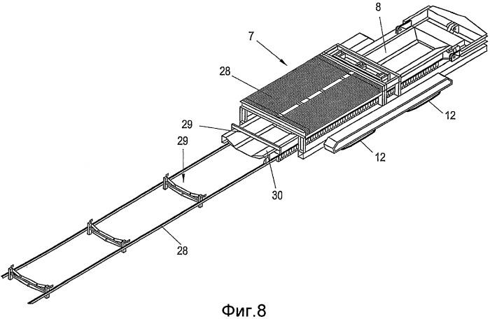 Передвижная ленточная накопительная конвейерная установка, накопитель ленты, а также саморазгружающаяся вагонетка для такой передвижной ленточной накопительной конвейерной установки