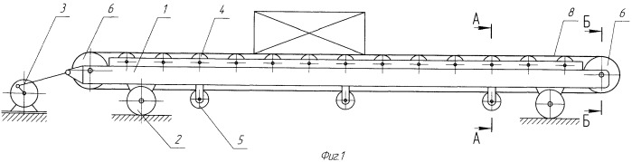 Ленточный конвейер с инерционным приводом