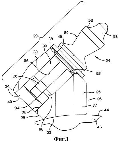 Вращающийся режущий инструмент с корпусом в форме перевернутого конуса