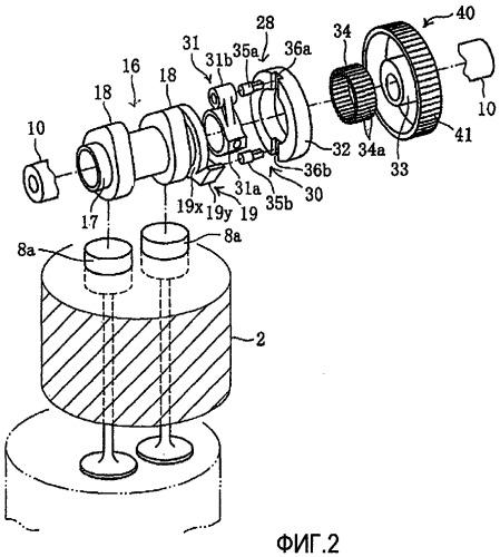 Регулируемый привод клапанов двигателя внутреннего сгорания