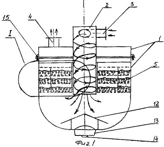 Глушитель-очиститель выхлопных газов двигателей внутреннего сгорания
