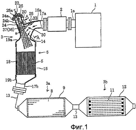 Устройство очистки отработанных газов двигателя внутреннего сгорания (варианты)