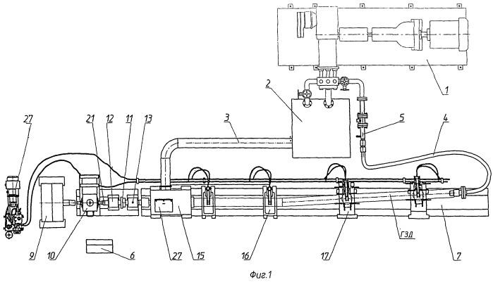 Стенд для обкатки и испытаний гидравлических забойных двигателей