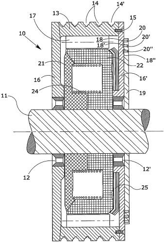 Электродвигатель с низким числом оборотов, в частности для приведения в действие подъемных устройств