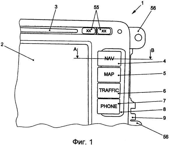 Многофункциональное устройство для отображения информации и для управления на автомобиле
