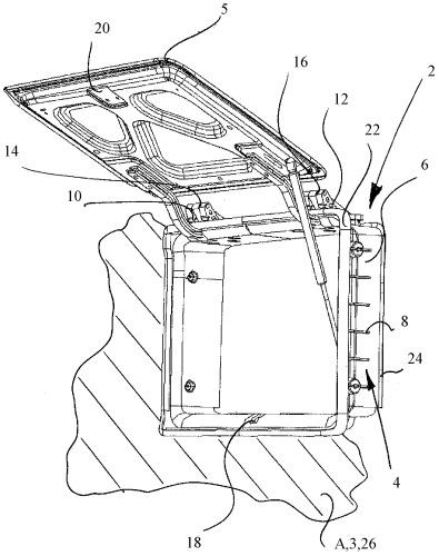 Рама загрузочного люка для транспортного средства