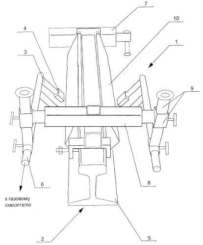 Способ и устройство термообработки рельсового стыка