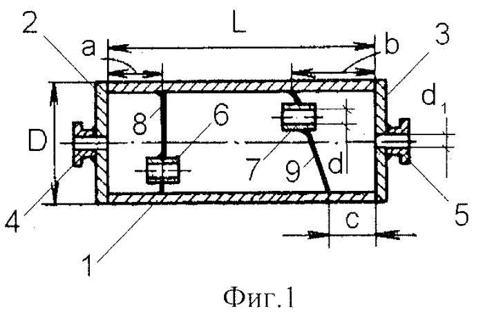 Глушитель шума выпуска камерного типа