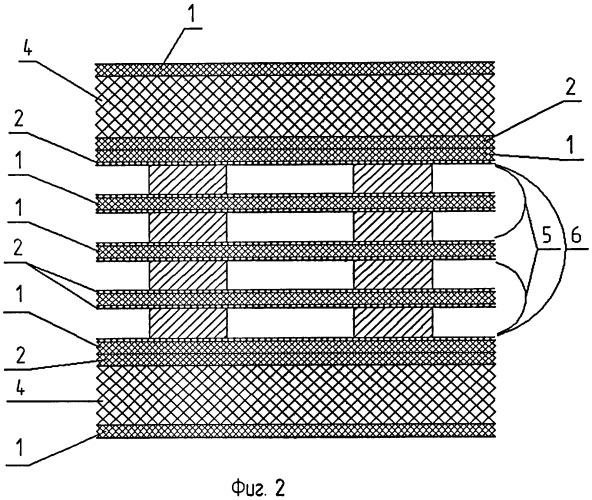 Способ изготовления многослойного контактного датчика в виде слоистой пленки
