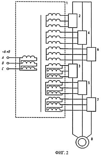 Многоуровневый транзисторный преобразователь частоты для управления электродвигателем переменного тока