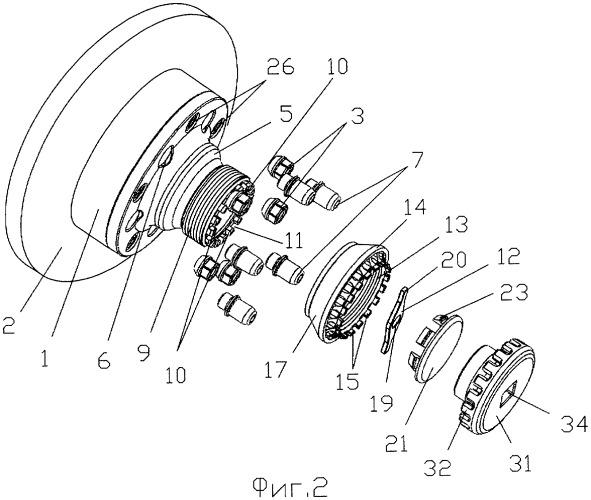 Устройство для крепления колеса на ступице