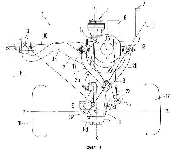 Подвеска колеса для передней оси автомобиля