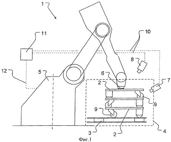 Способ и устройство для разгрузки роликовых тележек с поддонов и транспортирования