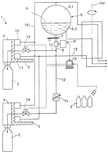 Способ наполнения бутылок или подобных им емкостей (варианты) и наполняющая система