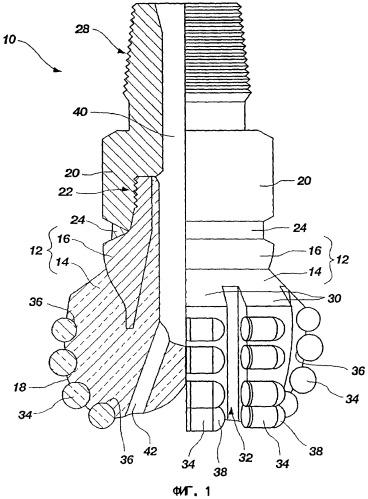Буровое долото для роторного бурения и способ его изготовления