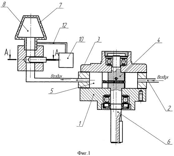 Способ регулирования частоты вращения пневматического ротационного двигателя и устройство для его осуществления