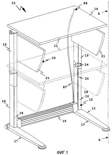 Пружинный энергоаккумулятор, а также мебель и закрывающее устройство