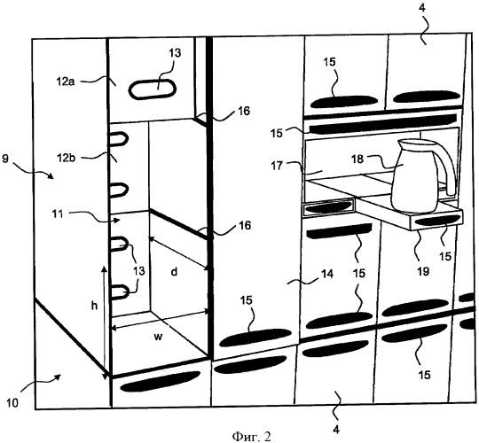 Бортовая кухня и способ обеспечения питанием пассажиров воздушного судна