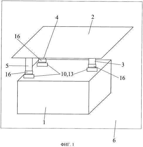 Опорная система для вспомогательной силовой установки