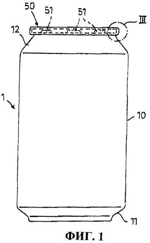 Емкость с крышкой для упаковывания текучих продуктов